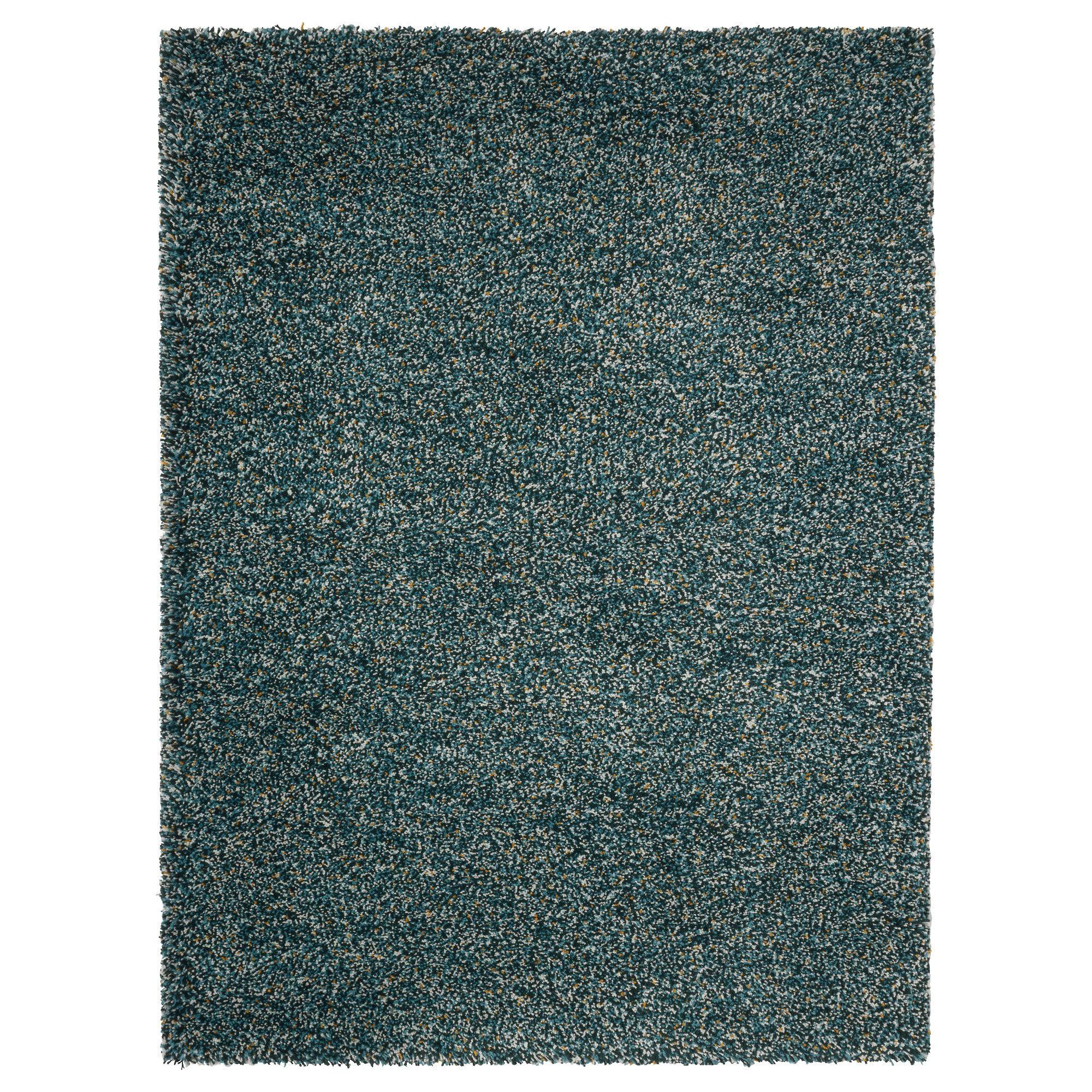 vindum rug high pile  bluegreen  ikea  rugs ikea