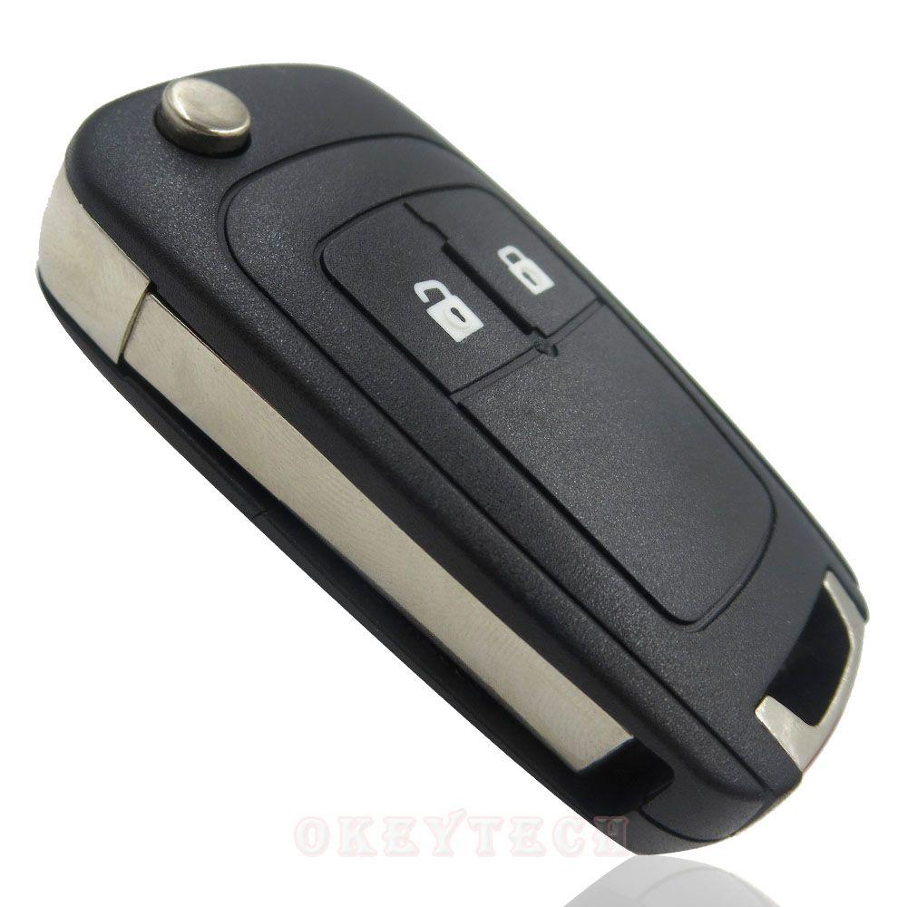 2 Button Flip Folding Remote Modified Key Fob Case Keyles Uncut