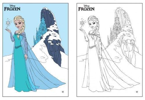 Coloriage Frozen Elsa.Coloriage Reine Des Neiges Elsa Exemple Couleur Barrette