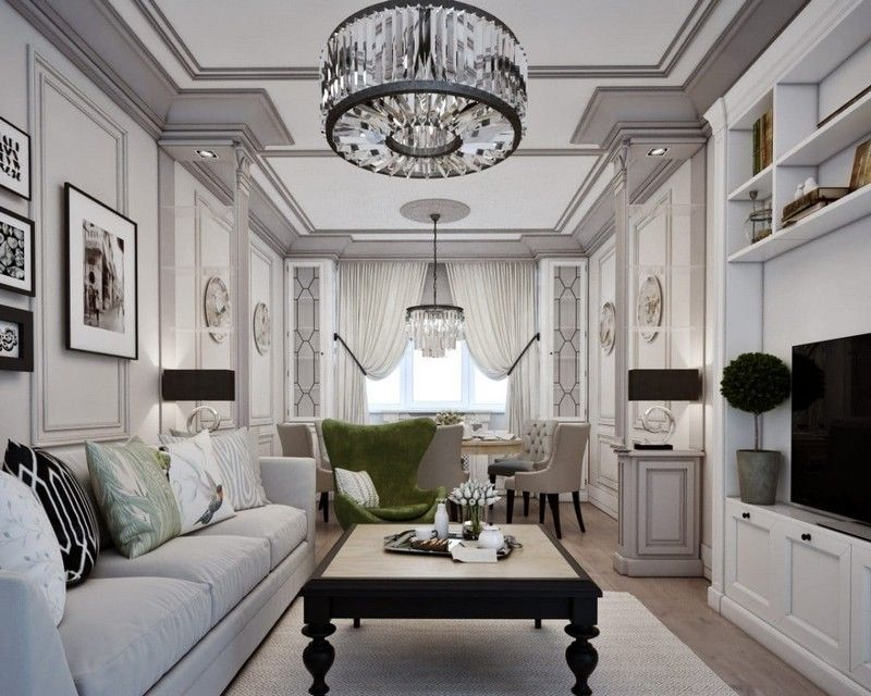 Gorgeous Neo Classical Apartment In Gray Beige Classic Living