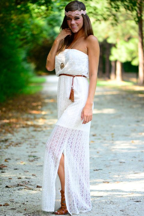 """""""Lovely In Lace Maxi, Ivory"""""""