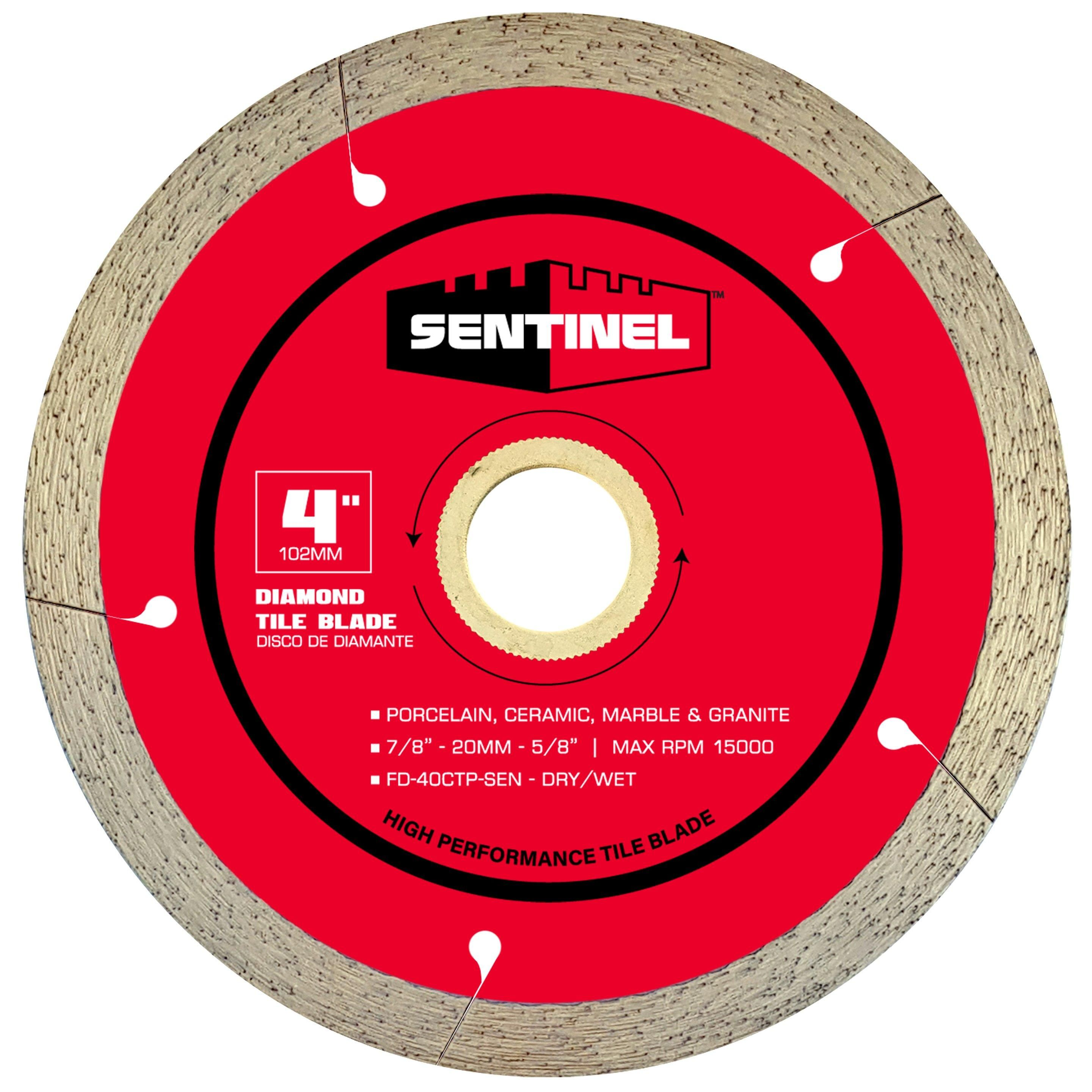 Sentinel 4in Tile Diamond Blade Diamond Blades Tile Saw Blade