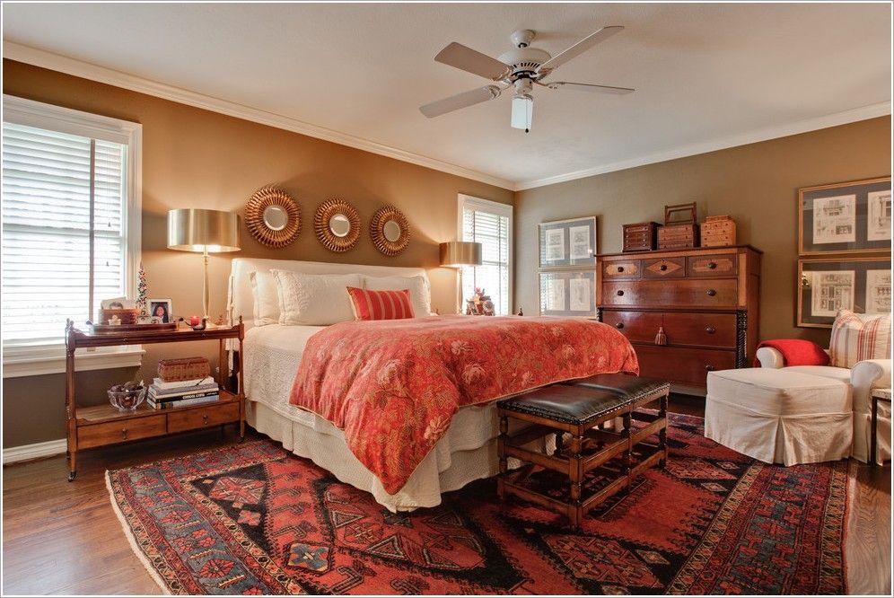 Oriental Rug In Bedroom Masterbed Transitional