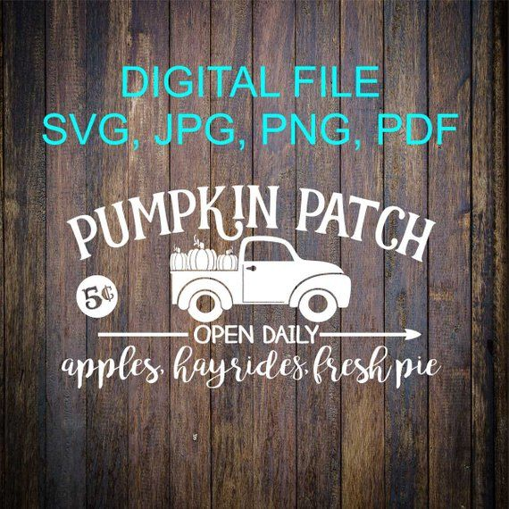 Pumpkin Patch SVG File, Fall SVG, Cricut Cut File, Home Cut File, Vinyl Cut File, Cricut File, Wood Sign Stencil, Vinyl Design, Vinyl SVG is part of home Projects Cricut - 3949  • I am unable to provide assistance on importing my files into your cut machine software