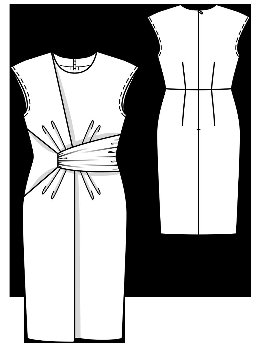 Выкроить платье в картинках