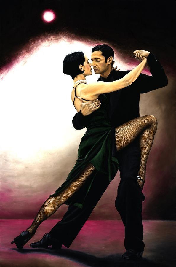 The Temptation Of Tango By Richard Young In 2020 Tango Dancers Tango Art Flamenco Dancers
