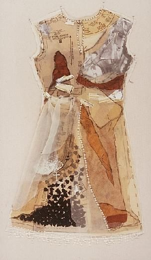 Marilyn Stevens, mixed media dress
