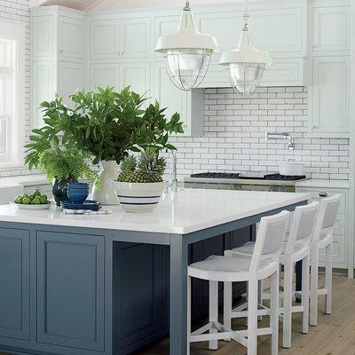 Subtle Contrast Beach House Kitchens Home Kitchens Coastal Living Kitchen