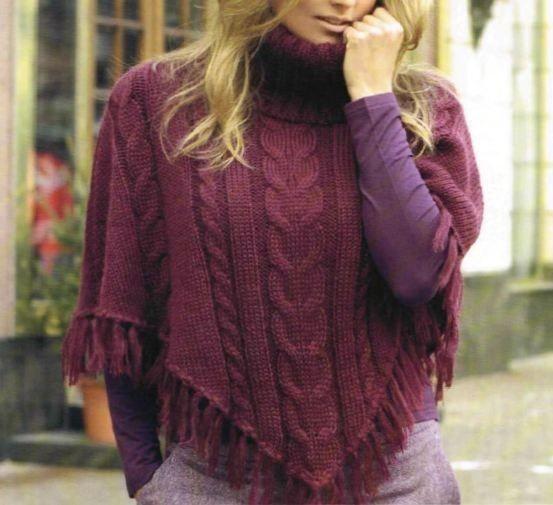 173c5f2e62 Poncho a maglia, gli schemi e le spiegazioni per realizzarlo [FOTO ...