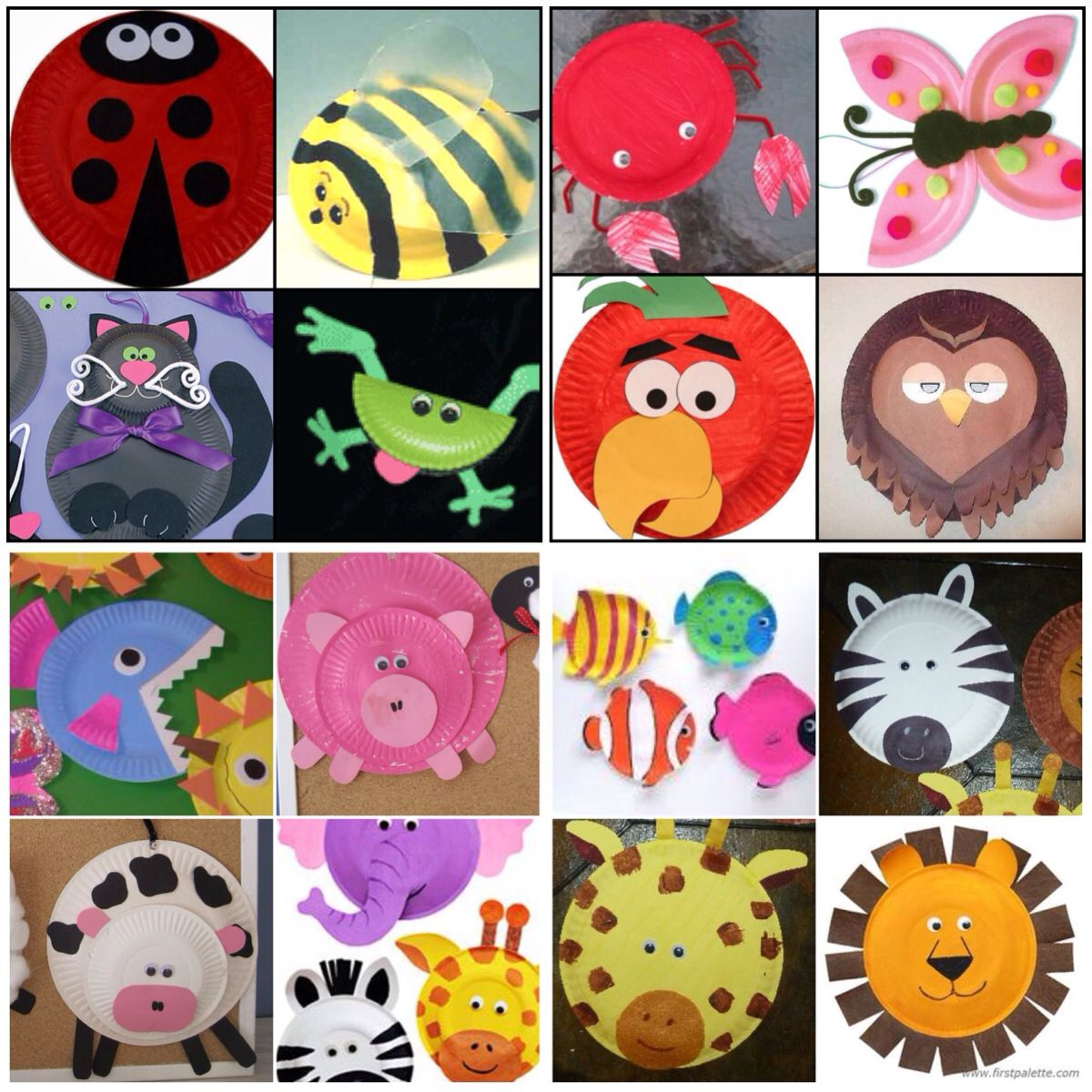 Paper plate animal crafts - Paper Plate Animal Crafts