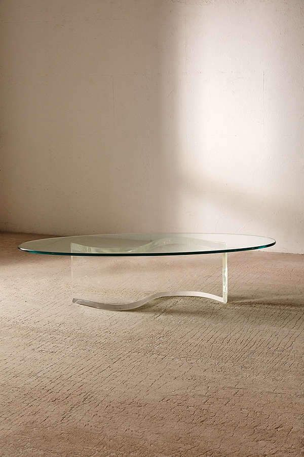 Urban Renewal Vintage Casa For One Of A Kind S Shaped Lucite Coffee Table