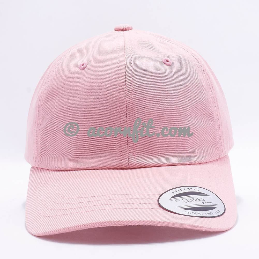 Wholesale Yupoong 6245CM Cotton Twill Dad Hat  Pink   4d0a0cb51c87