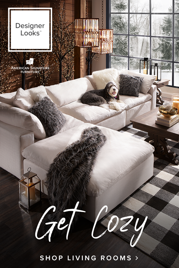 get cozy with our plush sectional sink