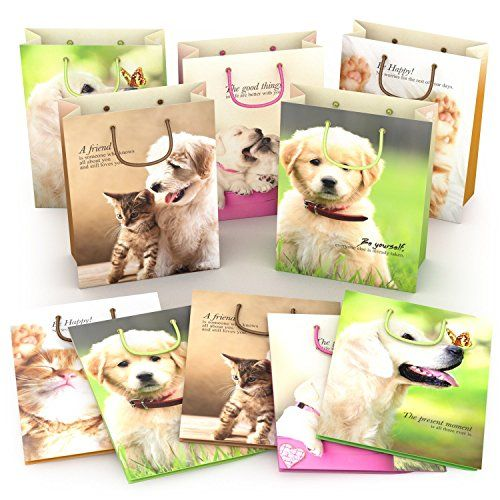 Kraft Gift Bags for Party Favors  Best Birthday Goodie Bags with Handles  Strong and Durable  Fun and Adorable Medium Paper Bags for Kids and Adults  Perfect Bag for your Valentines Day Gifts ** AMAZON Great Sale