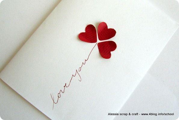 Biglietto fai da te veloce per san valentino fai da te e - Decorazioni san valentino fai da te ...