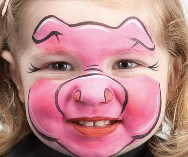 Styletic Animal Face Paintings Face Painting Halloween Pig Face Paint