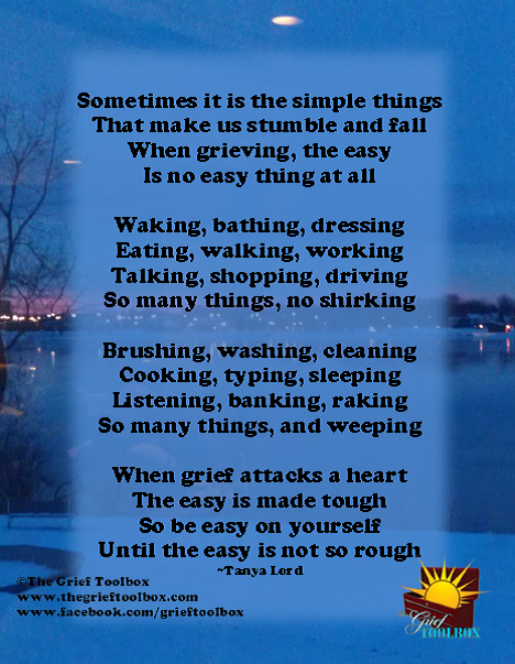 The not so simple things of grief a poem | The Grief Toolbox ...