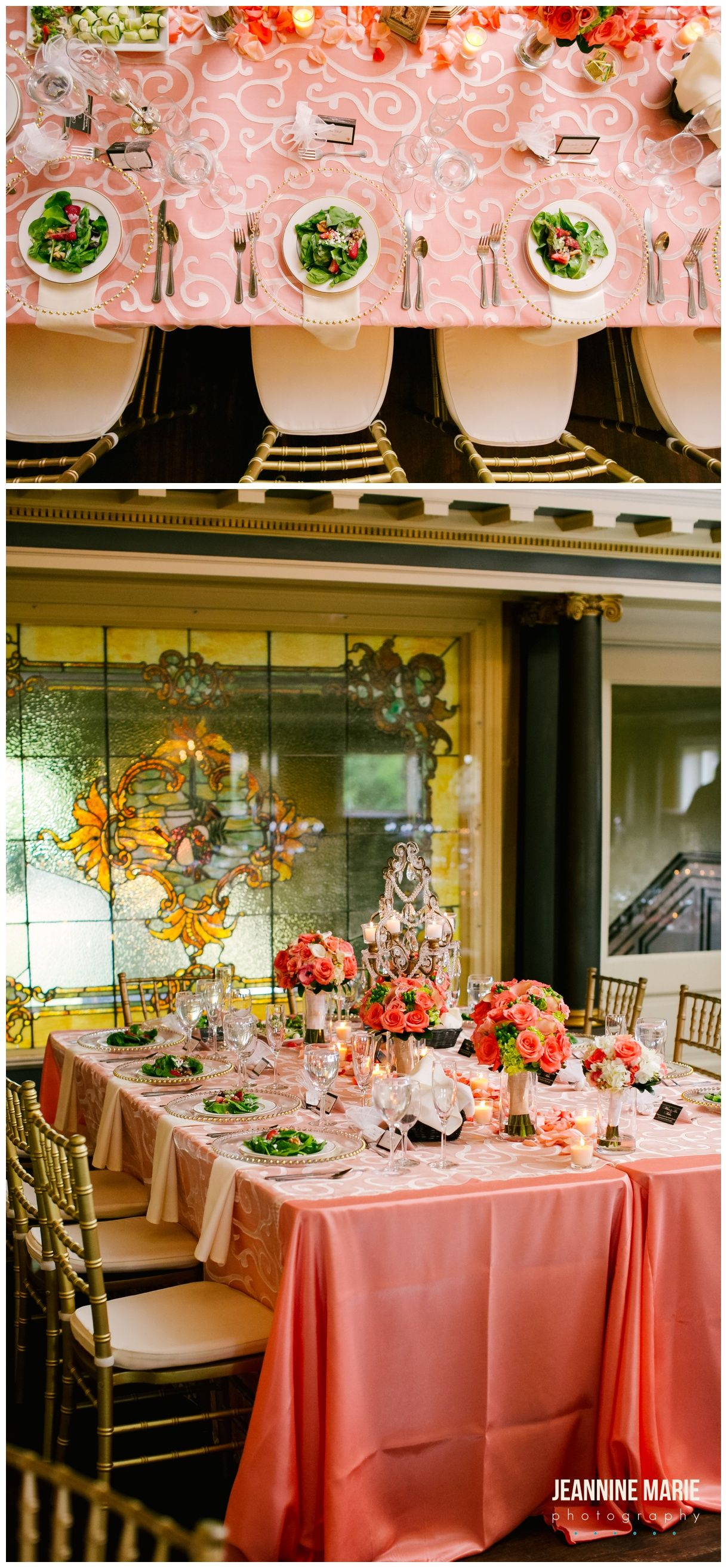Head table decor at Semple Mansion in