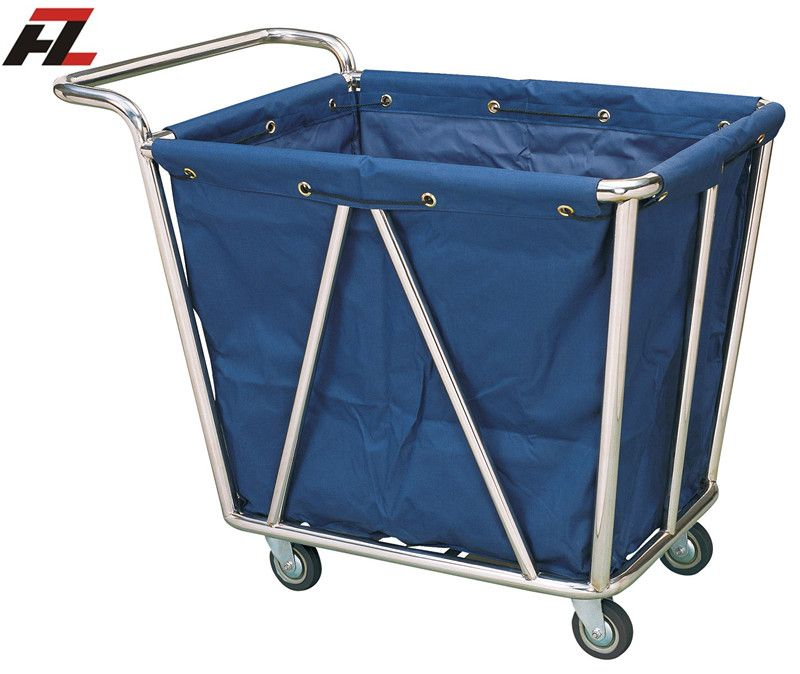 Hotel Heavy Washable Linen Laundry Trolley with handle -Linen Trolley