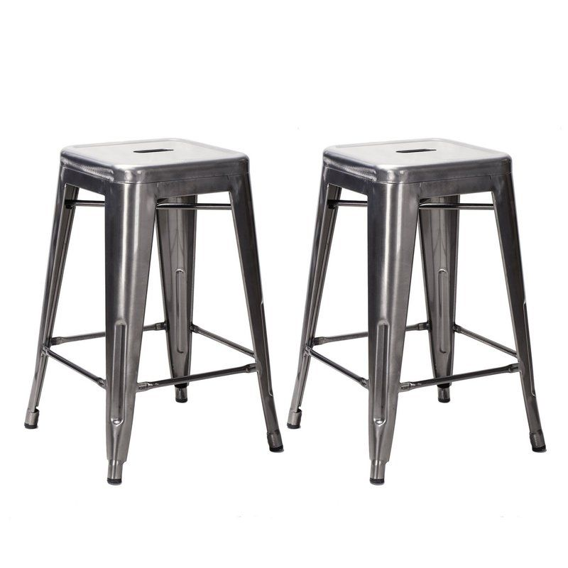 Luxury Carlisle Metal Bar Stools