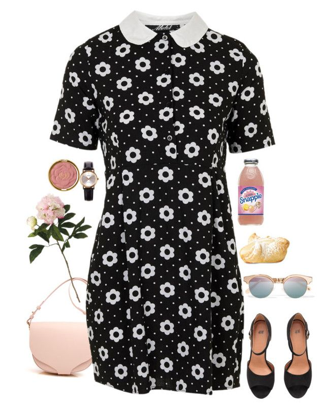 """#518"" by nellyjmez on Polyvore featuring Topshop, Casio, Le Specs, Milani and Allstate Floral"