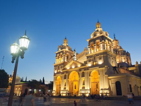 The Christian Kober Cordoba cathedral at night.