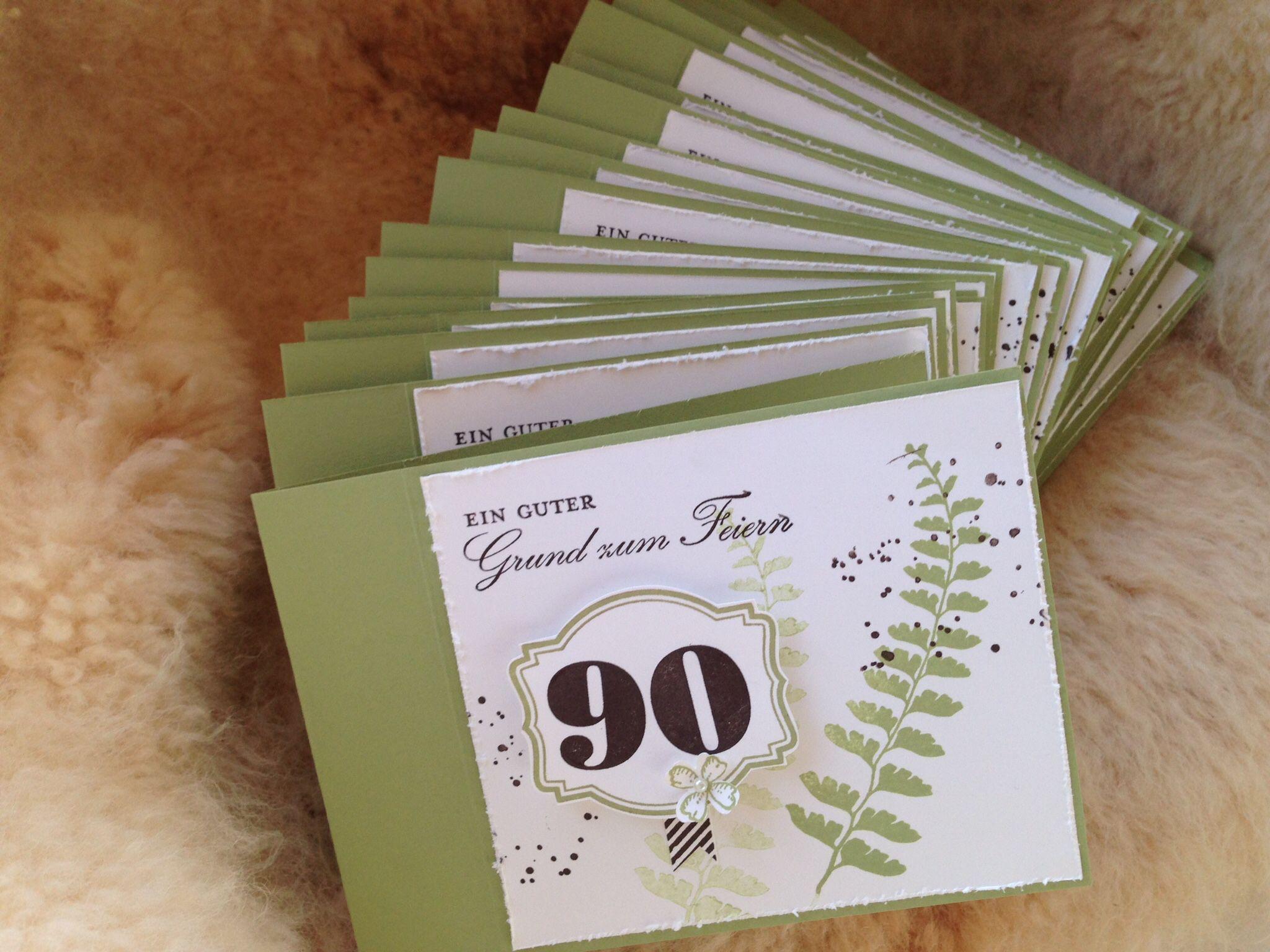 Einladung Zum 90 Geburtstag Basteln Pinterest Zum 90