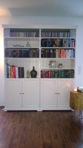 buecherregal liatorp regal schrank in weiss landhaus shabby impressionen wohnzimmer. Black Bedroom Furniture Sets. Home Design Ideas