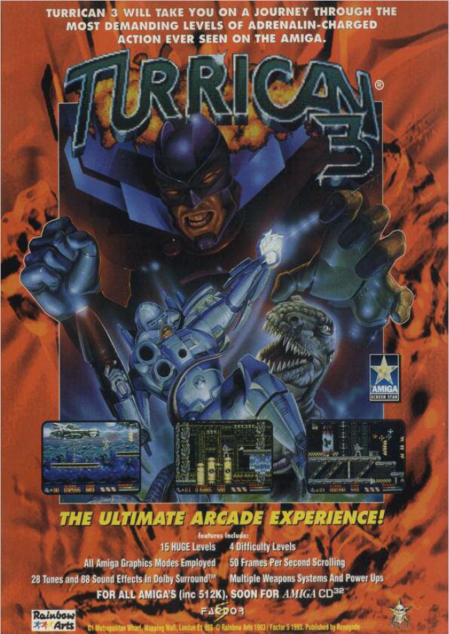 Amiga Turrican 3 Advertising