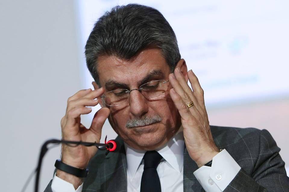 El ministro de Planificación de Brasil Romero Juca asistió a una conferencia de prensa en Brasilia, Brasil, el viernes.