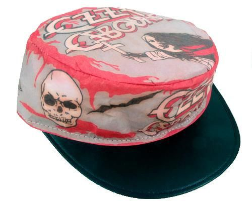 www.brokencherry.com  brokencherry  ozzy  ozzyosbourne  blacksabbath  Vintage Ozzy Osbourne Painters Hat ON SALE   12.00 bddad28322cf