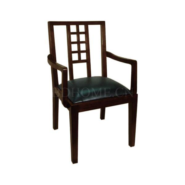 餐椅 栗子实木 真皮软包 210 102510 W610 D584 H940mm Armchair