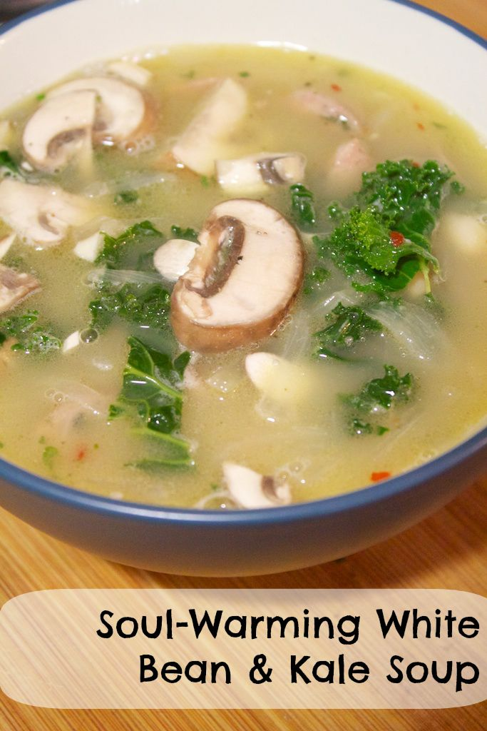 The Spicy Bee: Soul-Warming White Bean & Kale Soup
