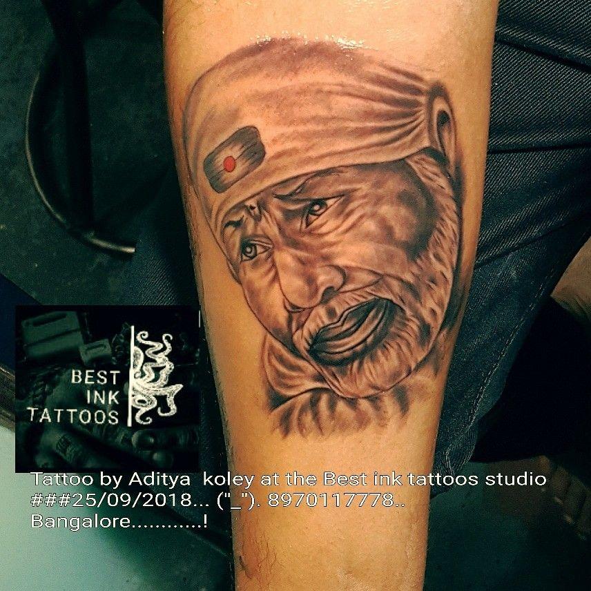 sai baba tattoo hand tattoo artistaditya koley 21cross