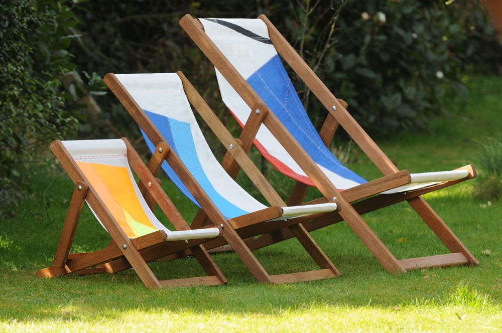 Sailcloth Beach Chairs French Cane Back Dining Wightsails Recycled Deck Sails