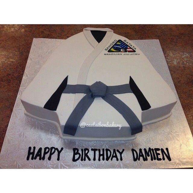 Karate kid birthday cake MarzipanFondant Made Pinterest