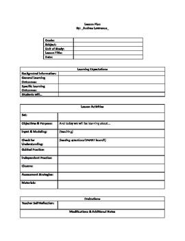 Lesson Plan Template Download This Is My Favourite Lesson Plan Template Includes All The Headers .