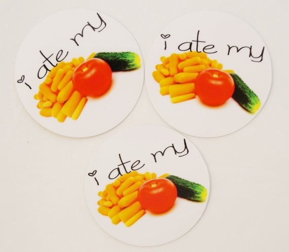 I ate my veggies  Carrots Tomato Cucumber  by LunchboxSurprises, $0.99 #vegetable #stickers #teampinterest