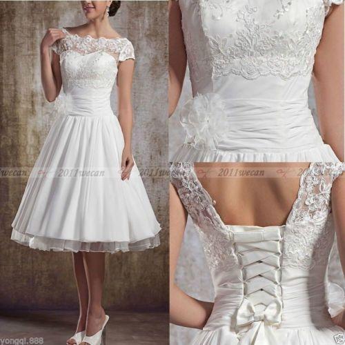 stock-weiss-Short-Lace-Brautkleid-Hochzeitskleid-Brautkleider ...