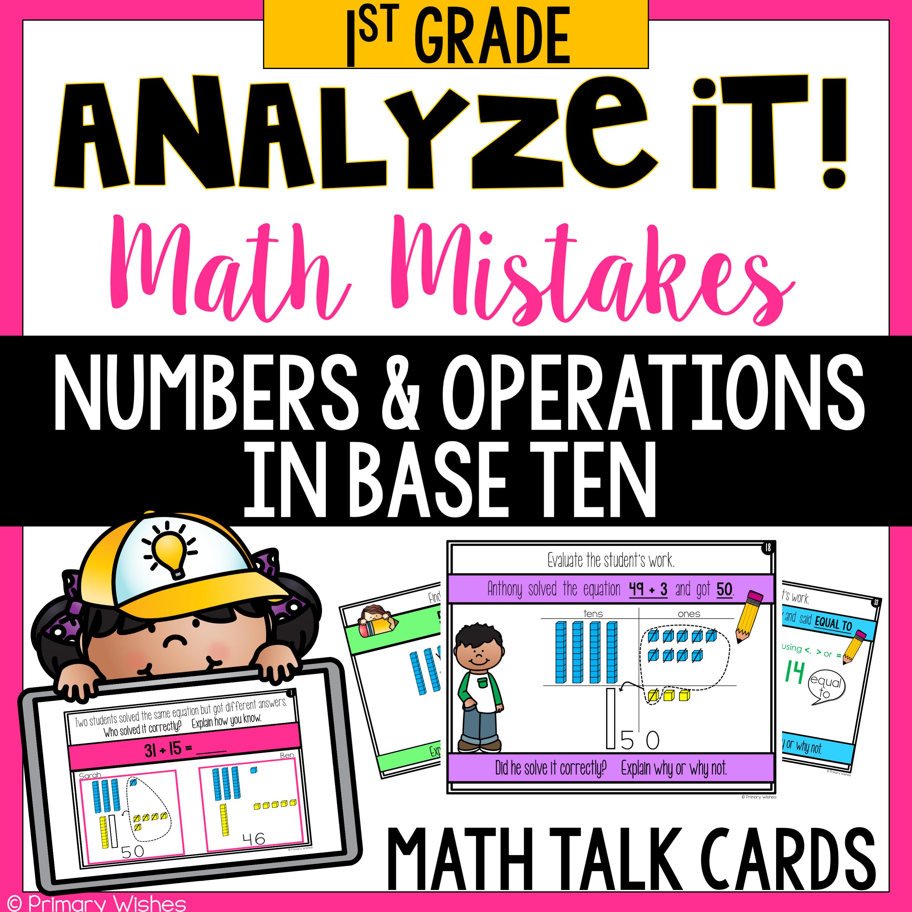 Math Mistake Cards