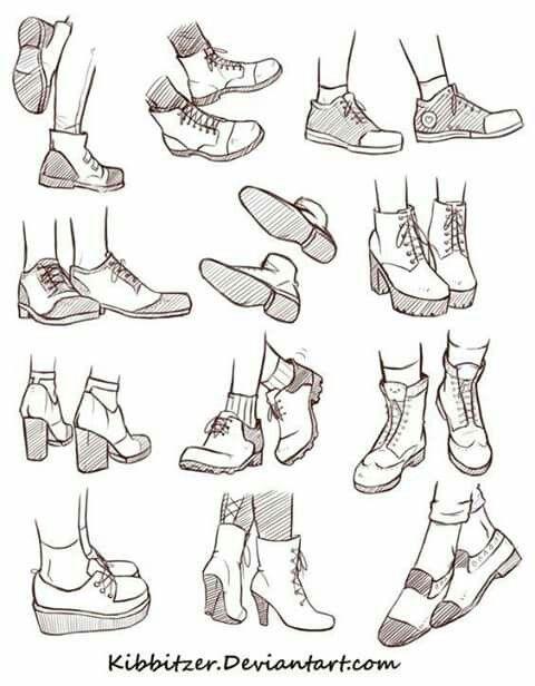 Poses En 2019Dessin Shoes Pied Crayon Au Chaussures 43Ajq5LR