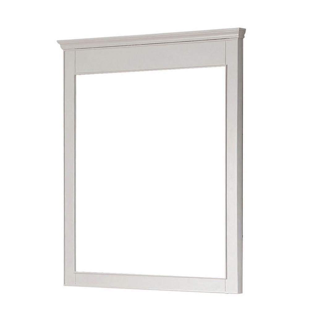 Avanity Windsor 36 In L X 30 In W Wall Mirror In White Beveled Mirror Rectangular Bathroom Mirror Home Decor Mirrors