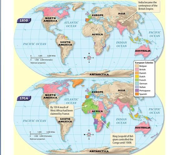 Image Result For 1850 World Map Wk 3 Imperialism Pinterest Map