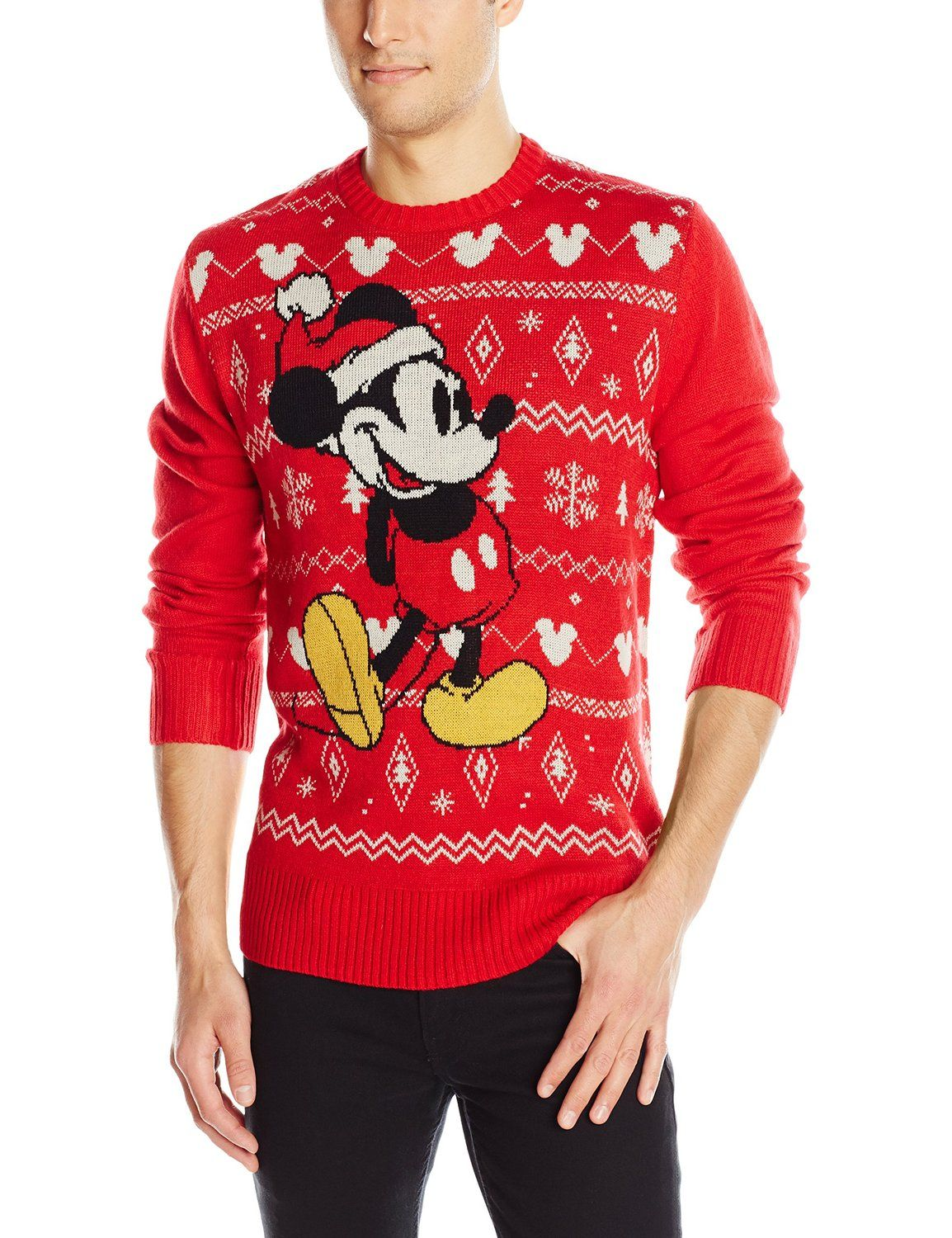 Disney Men's Mickey Mouse Ugly Christmas Sweater at Amazon Men's ...