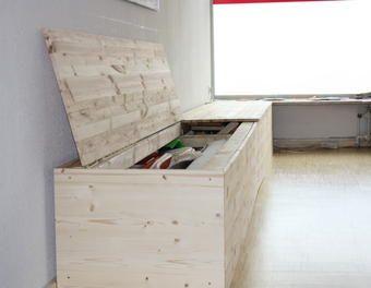 wenn man Stauraum braucht... Stauraum,Kiefer,Sitzmöbel,Holzbank