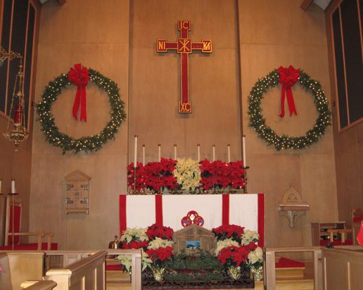 episcopal altar at christmas | Thank you to the people who made it to church through the twenty plus ...