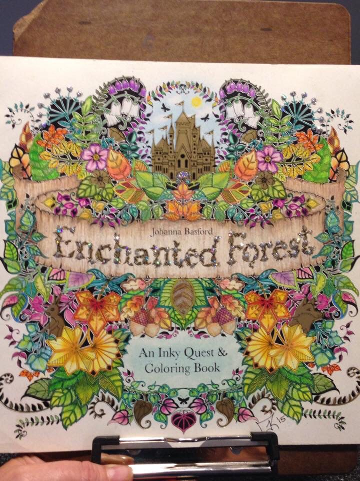 Enchanted Forest Cover Enchanted Forest Coloring Book Forest Coloring Book Enchanted Forest Coloring
