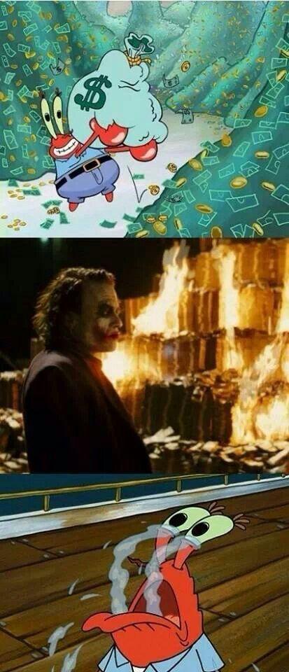 Joker burning money   Funny pictures, Wedding planning memes, Humor