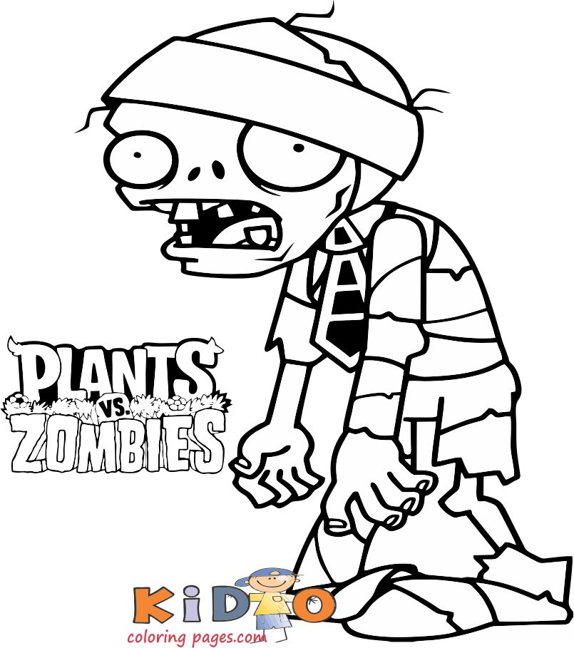 Zombies Pirate Coloring Page Kids Coloring Pages Plantas Vs Zombies Personajes Dibujos De Zombies Plantas Vs Zombies Cumpleanos