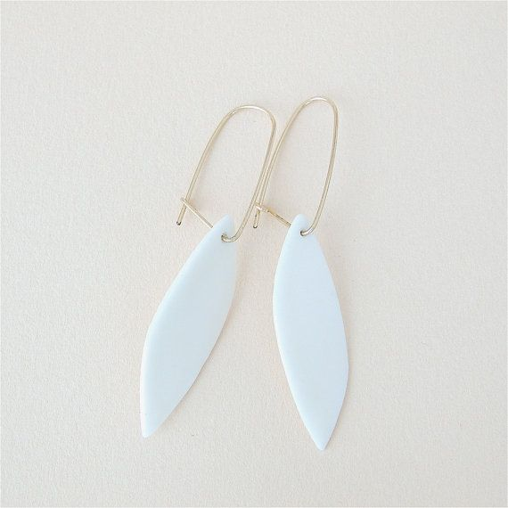 Nile  Minimalist earrings  & Goldfilled earwires  by ByLoumi, €34.00